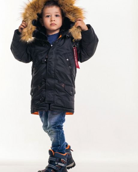 Аляска N-3B KIDS. Чорна, 100% поліестер