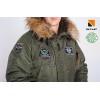 Аляска N-3B з нашивками 114 БрТА. Khaki, 100% Нейлон